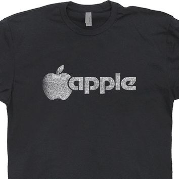 Vintage Apple Logo T Shirt Vintage Mac Apple Computer Shirts Retro Vintage Graphic Tee Shirts