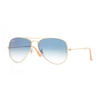 Original Aviator Sunglasses, Golden/Blue - Ray-Ban