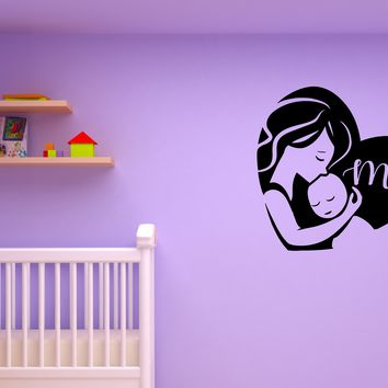 Wall Decal Mother Child Family Love Caring Kid's Room Vinyl Sticker (ed1028)