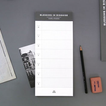 Blessing in disguise undated weekly scheduler notepad