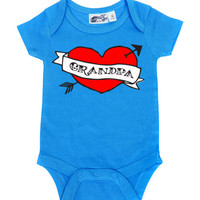 Grandpa Heart Tattoo Turquoise One Piece