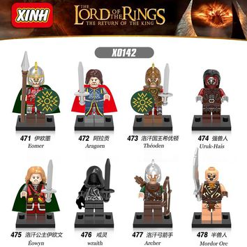 Single Legoing The Hobbit Lord Of The Rings Military Figure Tauriel Aragorn II Movie Blocks Legoings Figures Toys For Children