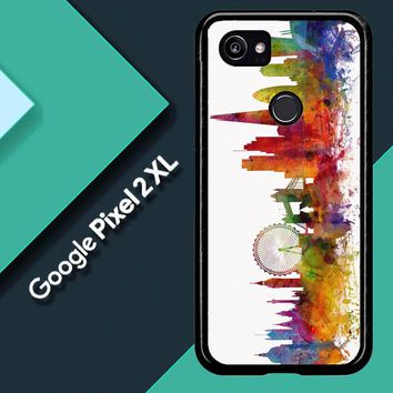 London Skyline Watercolor V0202 Google Pixel 2 XL Custom Case