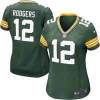 Women's Green Bay Packers Aaron Rodgers Nike Green Game Jersey