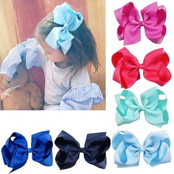 30 Colors Big Ribbon Hair Bows With Clips Girls Kids Hair Clips Hair Accessories, Flower Girl Bow Gifts