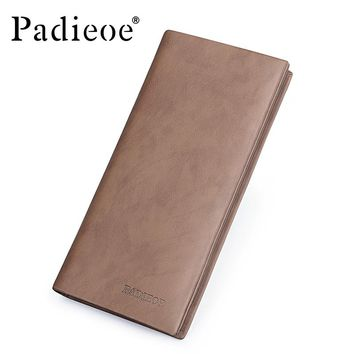Vintage Men's Long Wallet High Quality Clutch Wallet for Mens Fashion Casual ID Card Holder Purses