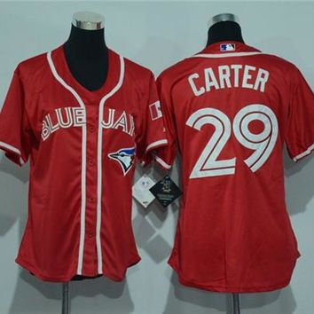 Women's Toronto Blue Jays #29 Joe Carter Cool Base Player Jersey | Best Online Sale