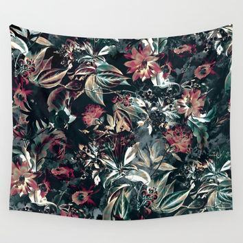 Space Garden Wall Tapestry by RIZA PEKER
