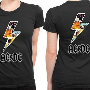 Acdc Lightning Since 2 Sided Womens T Shirt