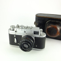 Zorki 4 - Vintage Russian Rangefinder Camera 35mm Film, Lens Industar-50, Made in USSR, Father's day Gift