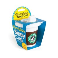 Rise & Shine Sippy Cup in Brown and White