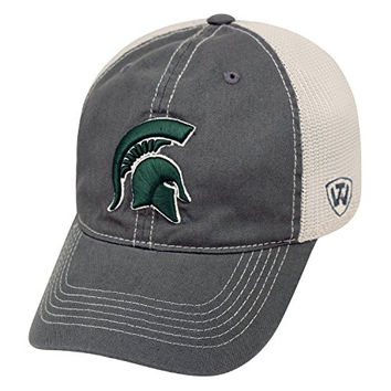"""Michigan State Spartans NCAA Top of the World """"Putty"""" Stretch Fit Mesh Back Hat"""