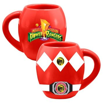 Red Power Ranger 18oz. Ceramic Oval Mug