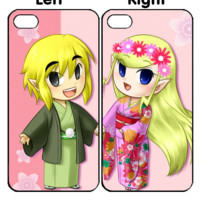 zelda and princess kimono Z0028 Couple iPhone 4S 5S 5C 6 6Plus, iPod 4 5, LG G2 G3 Nexus 4 5, Sony Z2 Couple Cases