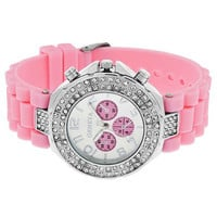 NT0048 Silicone jelly watch double diamond watches
