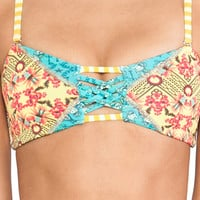 Maaji Crossover Bikini Top in Yellow