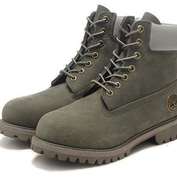 DCK7YE Best Deal Online Timberland 10061 Leather Lace-Up Boot Men Women Shoes