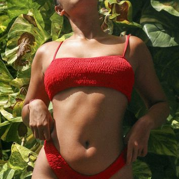 Karma Bikinis SÓL Top in Risky Red