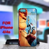 Lion king Hakuna Matata For IPhone 4 or 4S Black Case Cover