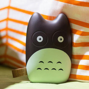 Fashional Cute Totoro Mobile Power Bank Real 8000mah Portale Charger External Battery Pack for iphone 5 6 Note Galaxy