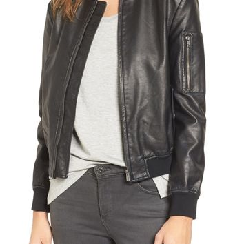 BB Dakota Braver Faux Leather Bomber Jacket | Nordstrom
