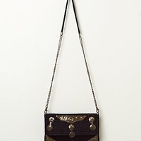 Free People Womens Moroccan Plate Crossbody - Black, One