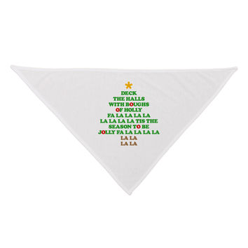 Deck the Halls Lyrics Christmas Tree Dog Bandana 26