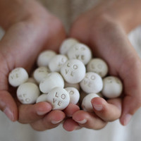 Wedding favors Round Love pebbles Bridesmaid gift Ceramic love stone