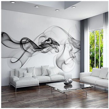 Custom 3D Photo Wallpaper Smoke Clouds Abstract Artistic Wall Paper Modern Minimalist Bedroom Sofa Tv Wall Mural Paper Painting