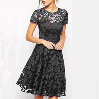 Fashion Slimming Lace Dress for Women