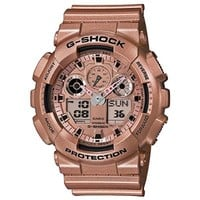 Casio G-Shock Gold Dial Gold Resin Quartz Men's Watch GA100GD-9A