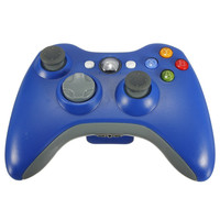 New Wireless Cordless Shock Game Joypad Controller For xBox 360 - Blue