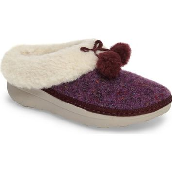 FitFlop™ Loaff Pompom Wool Slipper (Women) | Nordstrom