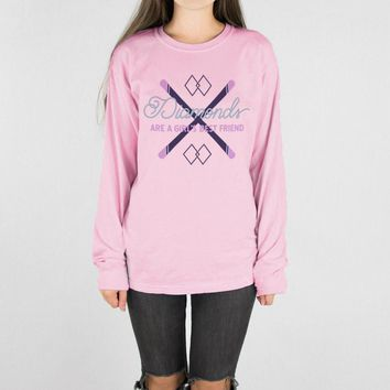 Diamonds are a Girl's Best Friend Long Sleeve Tee