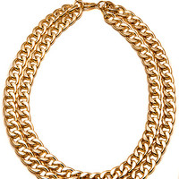 The Fashion Blog Favorite - Mr. T Necklace In Gold