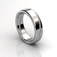 AMAZING 1.35CT WHITE ROUND STUD 925 STERLING SILVER ENGAGEMENT AND WEDDING BAND