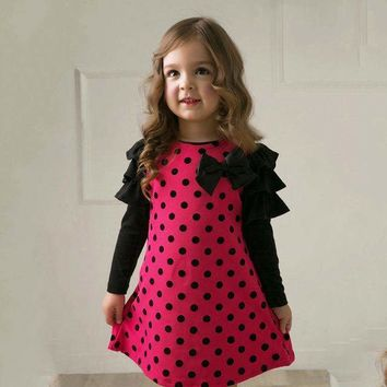 Polka Dot Julie Long Sleeve Dress