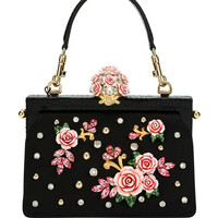 Dolce & Gabbana Vanda Embellished Rose Evening Bag