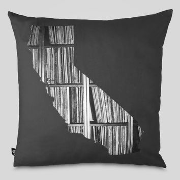 CA Records Pillow in Charcoal