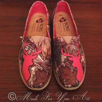 Deer Head Realtree Camo Shoes