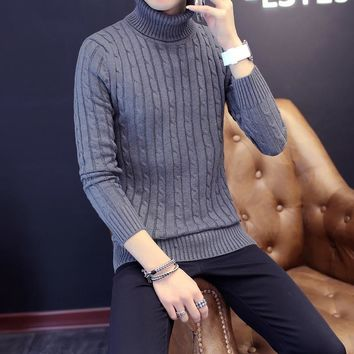 Men's Cotton Fashion Turtleneck