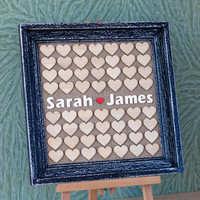 Wedding Guest book, Guest Book Frame, Dropbox, Heart Guest book, Personalized Guest book