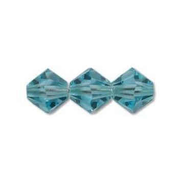 MC30203AQUABO - 3mm Preciosa Bicone Crystal Beads, Aqua Bohemica | Pkg 144