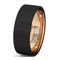 Soul Men Trendy 8mm Tungsten Wedding Wedding Bands Men Tu076r
