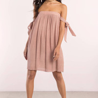 Mary Off Shoulder Day Dress