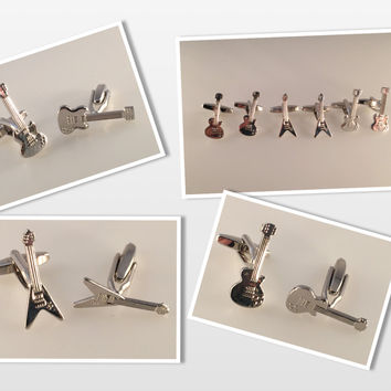 Guitar Cufflinks, Electric Guitar Cuff Links, Rock Guitar Cufflinks, Men's Cuff Links, Wedding Cuff Links, Father's Day