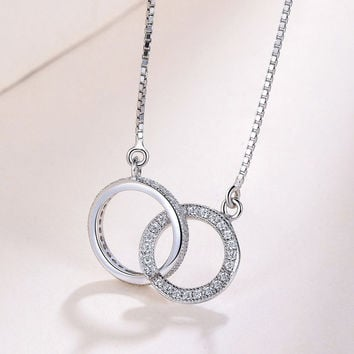 S925 Sterling Silver Fashion Double Neck Tight Necklace Temperament Wild Silver Jewelry Factory A