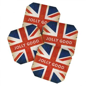 Anderson Design Group Jolly Good British Flag Coaster Set