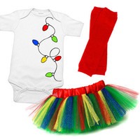 Christmas Lights Tutu Set