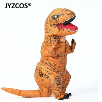 JYZCOS t rex Inflatable Dinosaur Costume Halloween Costume for Kids Dinosaur Cosplay Costume Fancy Dress Costume Men